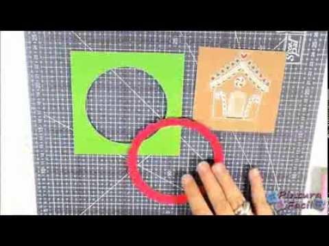 Libro De Pintura Para Navidad-Como Hacer Tarjetas de Navidad 2014 DIY Christmas Cards Scrapbook Tarj