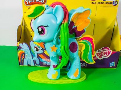 Play Doh Rainbow Dash Mi Pequeño Pony Style Salon Playset Plastilina