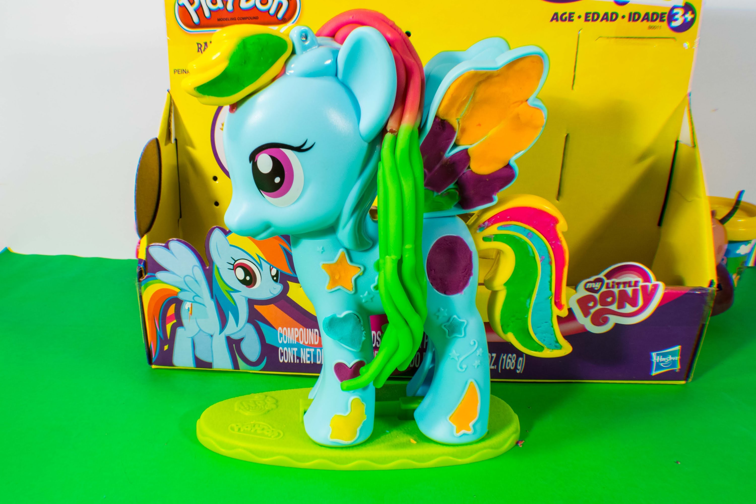 Play Doh Rainbow Dash Mi Pequeño Pony Style Salon Playset Plastilina
