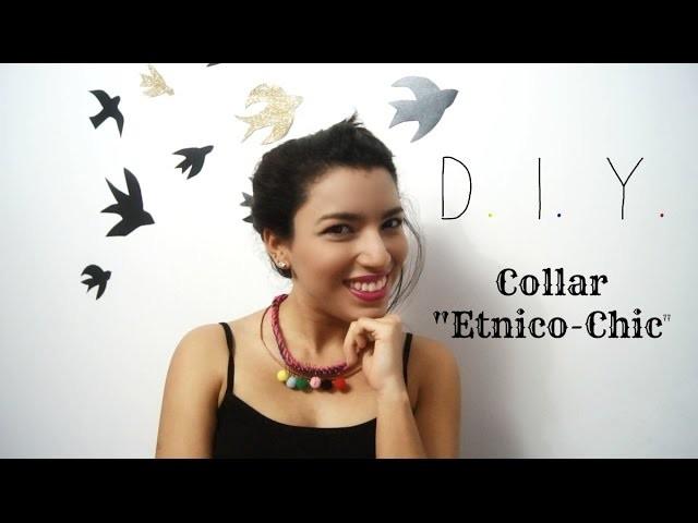 Collar artesanal tejido de colores DIY