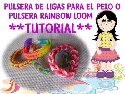Pulsera Rainbow Loom (Pulsera de ligas para el pelo) *video tutorial*
