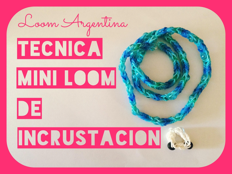 Tutorial de Rainbow Mini Loom con técnica de incrustación en Español