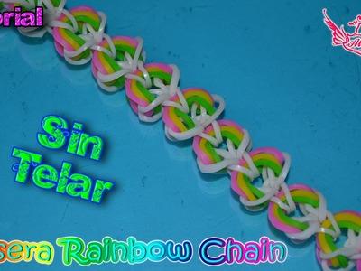 ♥ Tutorial: Pulsera Rainbow Chain (sin telar) ♥