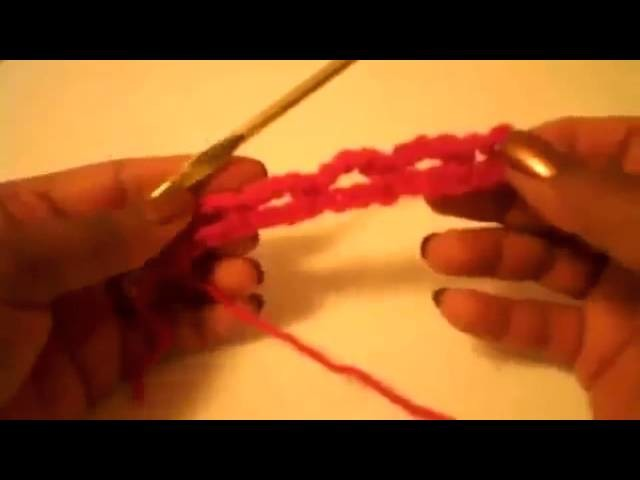 Cintillo sencillo punto de red Tutorial de tejido crochet
