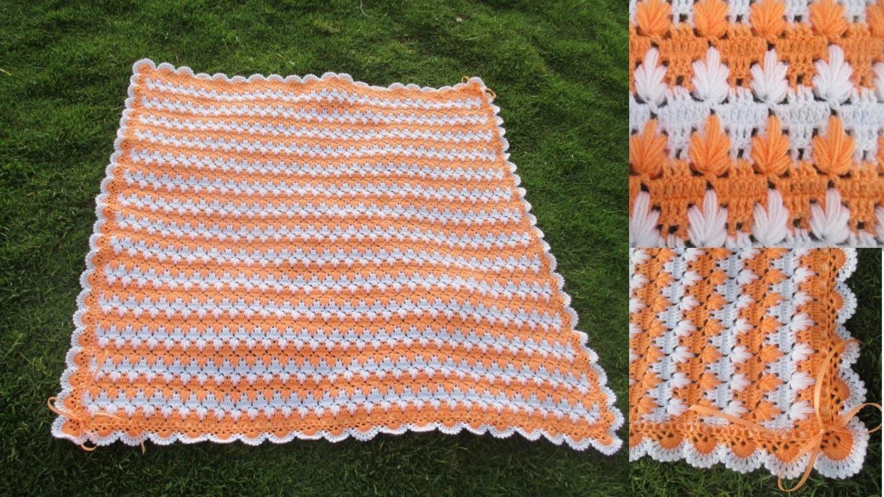 Colchita o mantita para bebe tejido a crochet paso a paso video 1