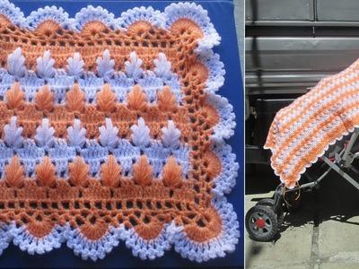 Colchita o mantita para bebe tejido a crochet paso a paso video 2