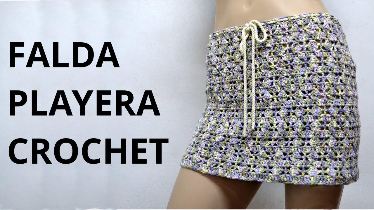 Falda Playera en tejido crochet tutorial paso a paso.