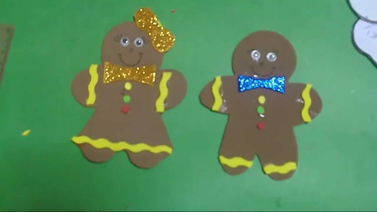 Manualidades para navidad paso a paso,christmas craft,galletas de gengibre, Niña