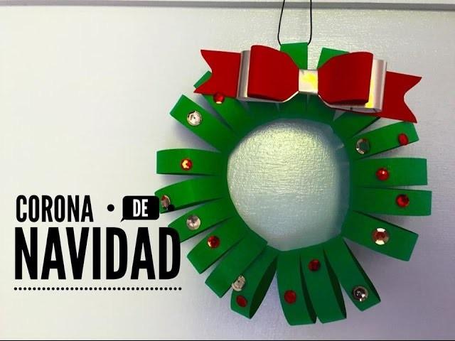 TUTORIAL Corona de navidad Fácil.Easy Christmas Wreath