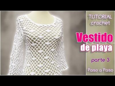 Vestido mujer tejido a crochet, paso a paso (3 de 3)