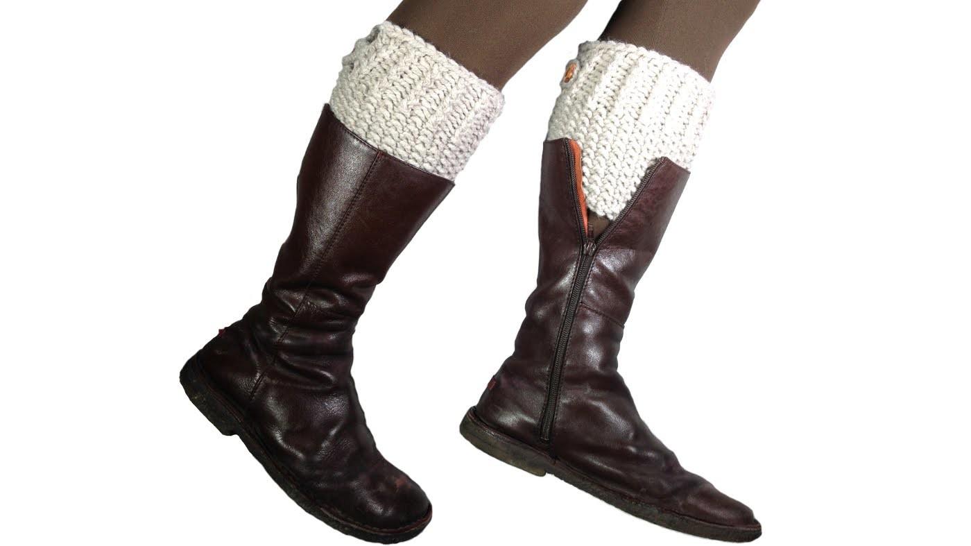 Cómo tejer con telar calentadores para botas (Tutorial DIY)