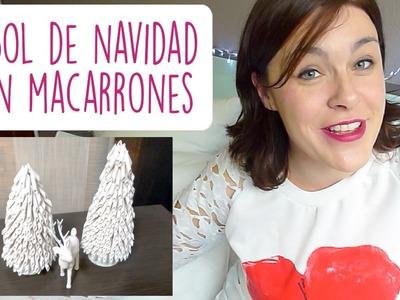 DIY ÁRBOL DE NAVIDAD CON PASTA (MACARRONES) ♥ Qué cositas