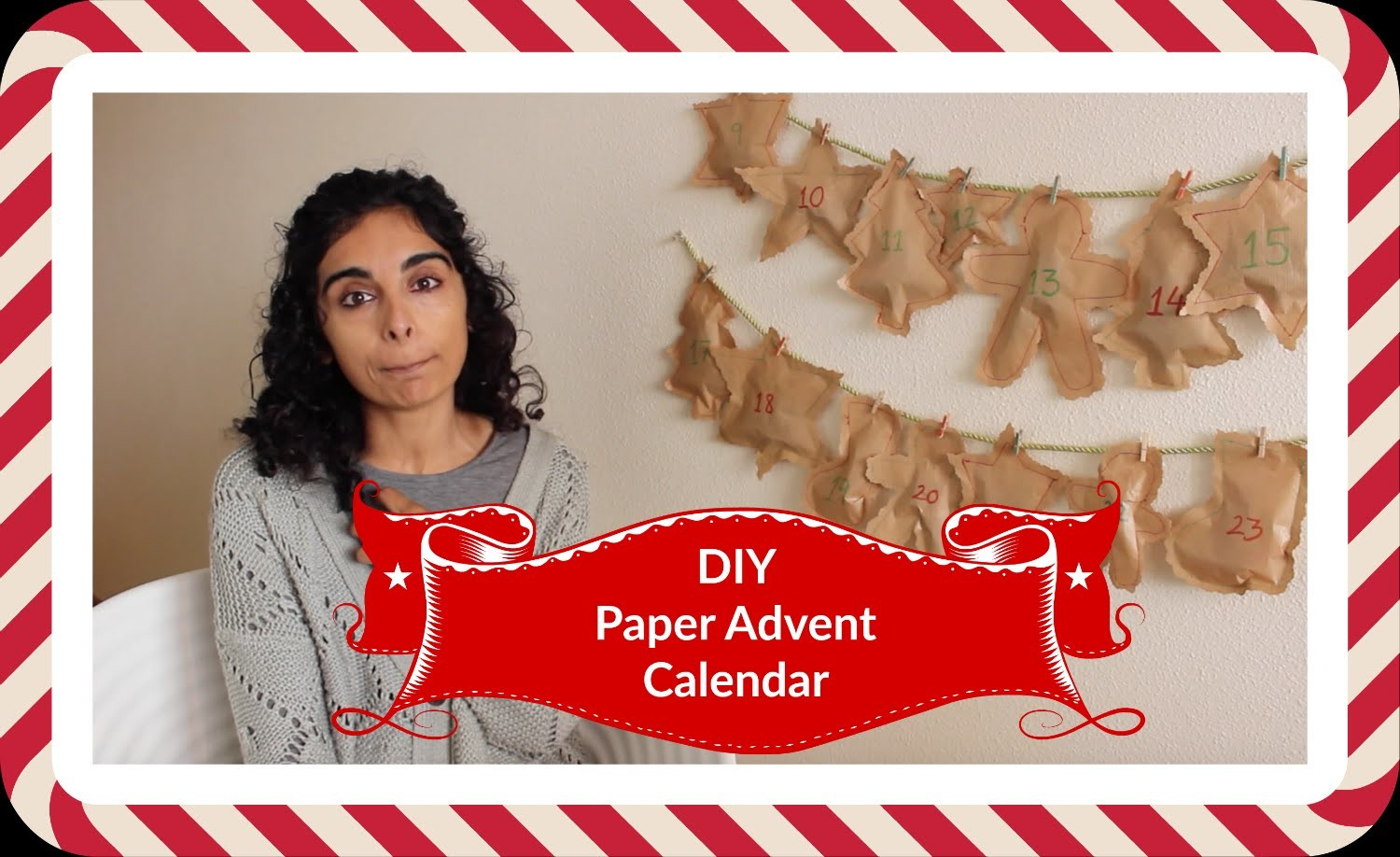 DIY - Calendario Adviento de papel | Manneken