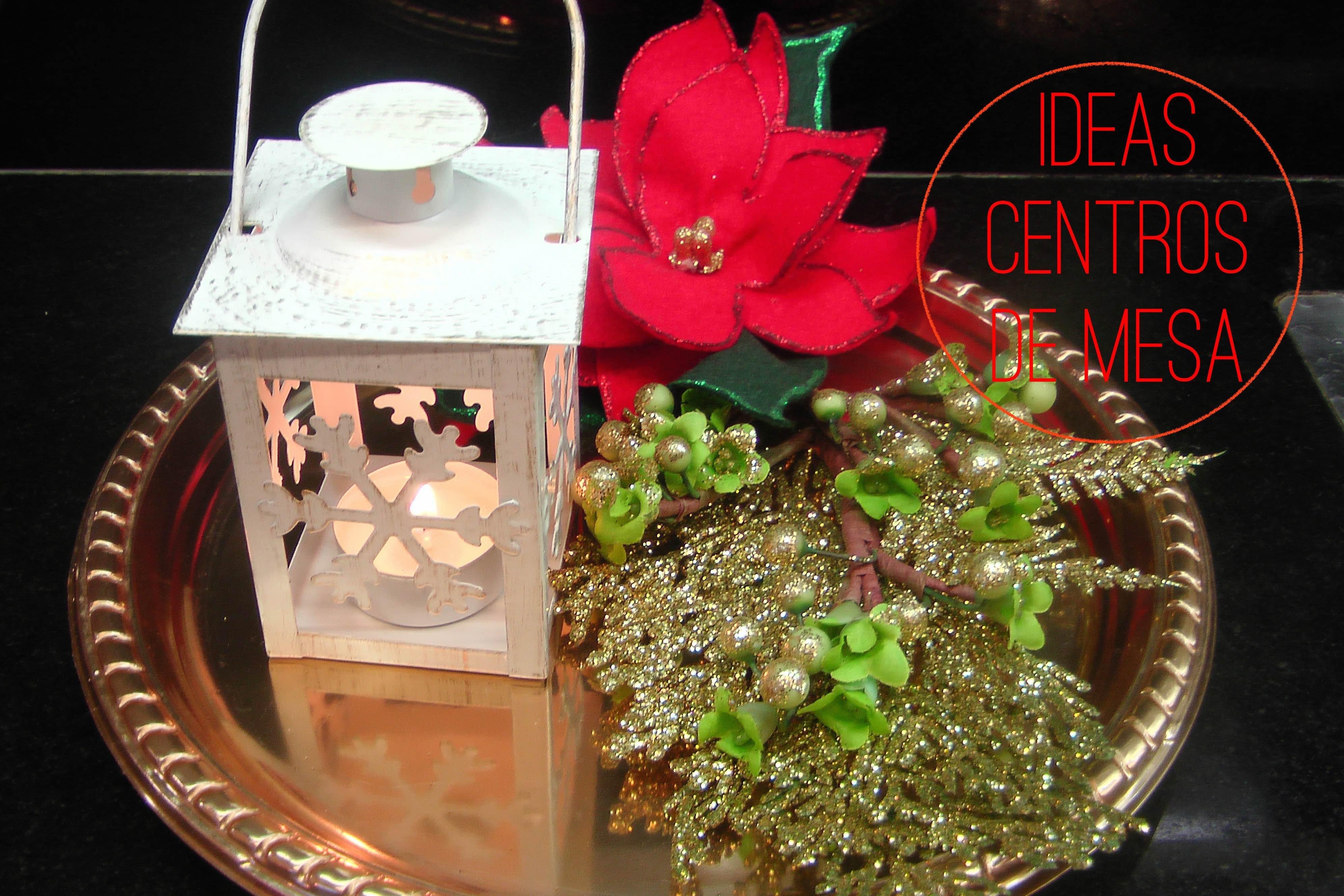 DIY: Centro de mesa navideño con vela. 4 Ideas Navidad. Centrotavola natalizio