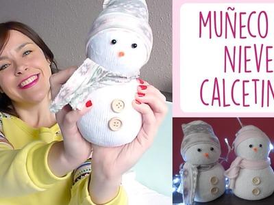 DIY MUÑECO DE NIEVE CON CALCETINES ♥ Qué cositas