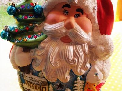 DIY pinta cerámica de Navidad santa claus cermic decoration