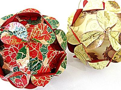 Cómo hacer adornos (esferas) de Navidad. Christmas ornament sphere