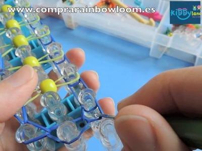 Cómo hacer la pulsera Bead Ladder Bracelet. Tutorial en español.  por María.