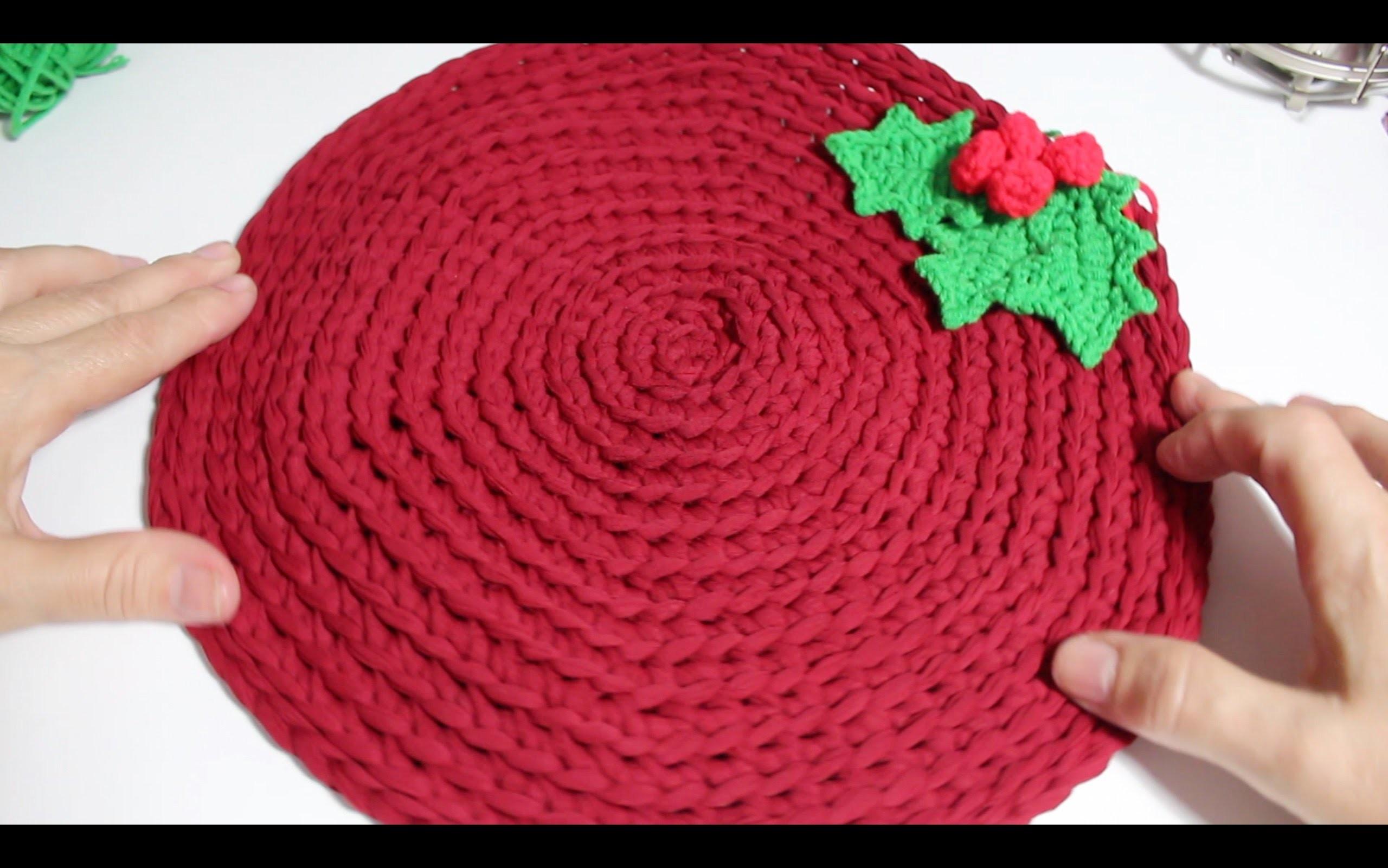 Mantel Individual a Crochet. Decoración Navidad ¡ Christmas ! I cucaditasdesaluta