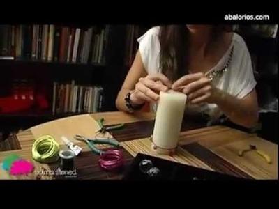Abalorios.com - Decora una vela con aluminio y cuentas