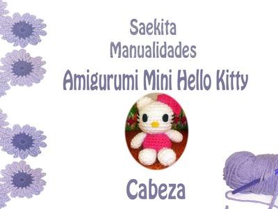 Amigurumi Ganchillo * Mini Hello Kitty * Cabeza (1 de 4)