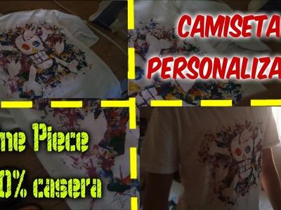 Aniotama Tutoriales| Camiseta ONE PIECE 100% casera| Como hacer camisetas personalizadas|