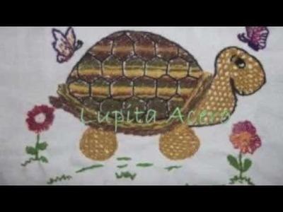 Bordado Fantasía-Proyecto IV-Primavera- Bordados Lily y Lupita Acero
