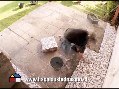¿Cómo instalar cerámicas en suelo exterior?