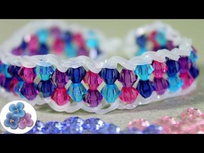 Como Hacer Pulseras de Gomitas Cristal Facil Pulseras de Ligas Tutorial Rainbow Loom Pintura Facil