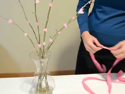 Cómo hacer ramas de cerezo con corazones | facilisimo.com