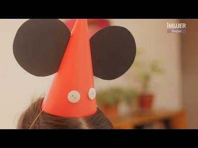 Cómo hacer sombreritos de Mickey | @iMujerHogar