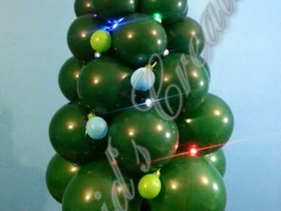 Como hacer un Arbol Navideño con globos - How to make a Balloon Christmas Tree