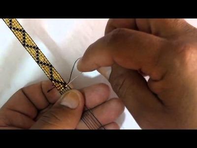 Como hacer una manilla en mostacilla