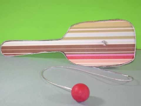 Como hacer una Raqueta con pelota (paddle ball)