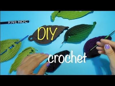 Como tejer hoja sencilla otoño ganchillo crochet Autumn Leaf diy