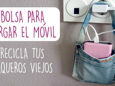 DIY BOLSITA CARGA MOVIL SIN COSER ♥ Qué cositas