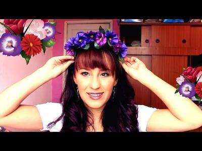 DIY - Diadema de Flores ❀  Balaca con flores ❀