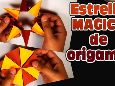Estrella mágica de origamis con Arte Visual