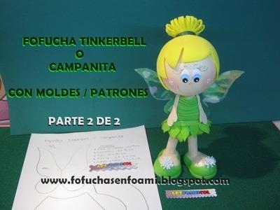 FOFUCHA TINKERBELL o CAMPANITA EN FOAMY CON MOLDES  PTE 2 DE 2