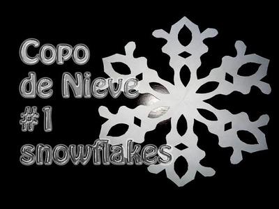 Kirigami como hacer un copo de Nieve de papel # 1--snowflakes --DIY