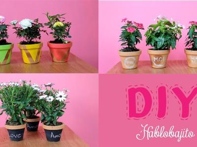 Macetas bonitas. ideas para decorar fáciles - Hablobajito