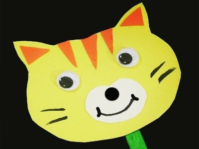 Manualidades de papel: Gato  - Titere