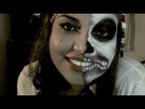 Maquillaje para halloween.pirata fantasma