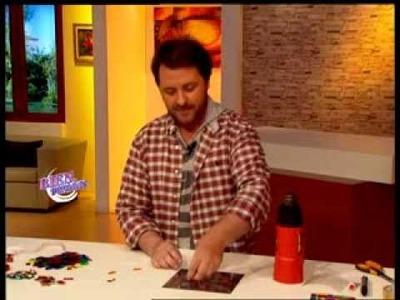 Martín Muñoz - Bienvenidas TV - Como hacer una lámpara estilo vitrofusión en PVC