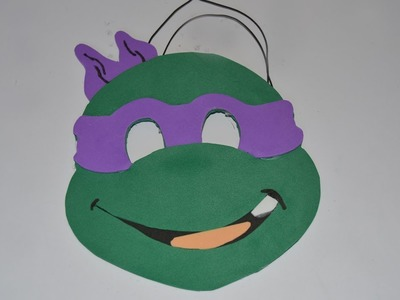 Máscara infantil de Carnaval tortuga ninja Donatello