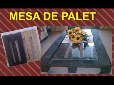 MESA DE PALET (Reciclaje)
