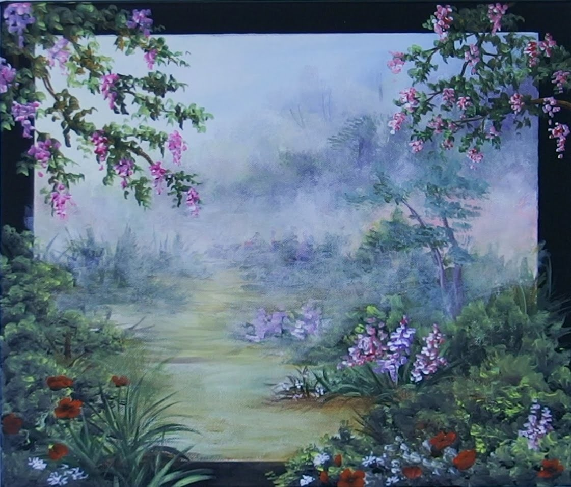 Pintar paisaje con acrílicos , Painting landscape with acrylics