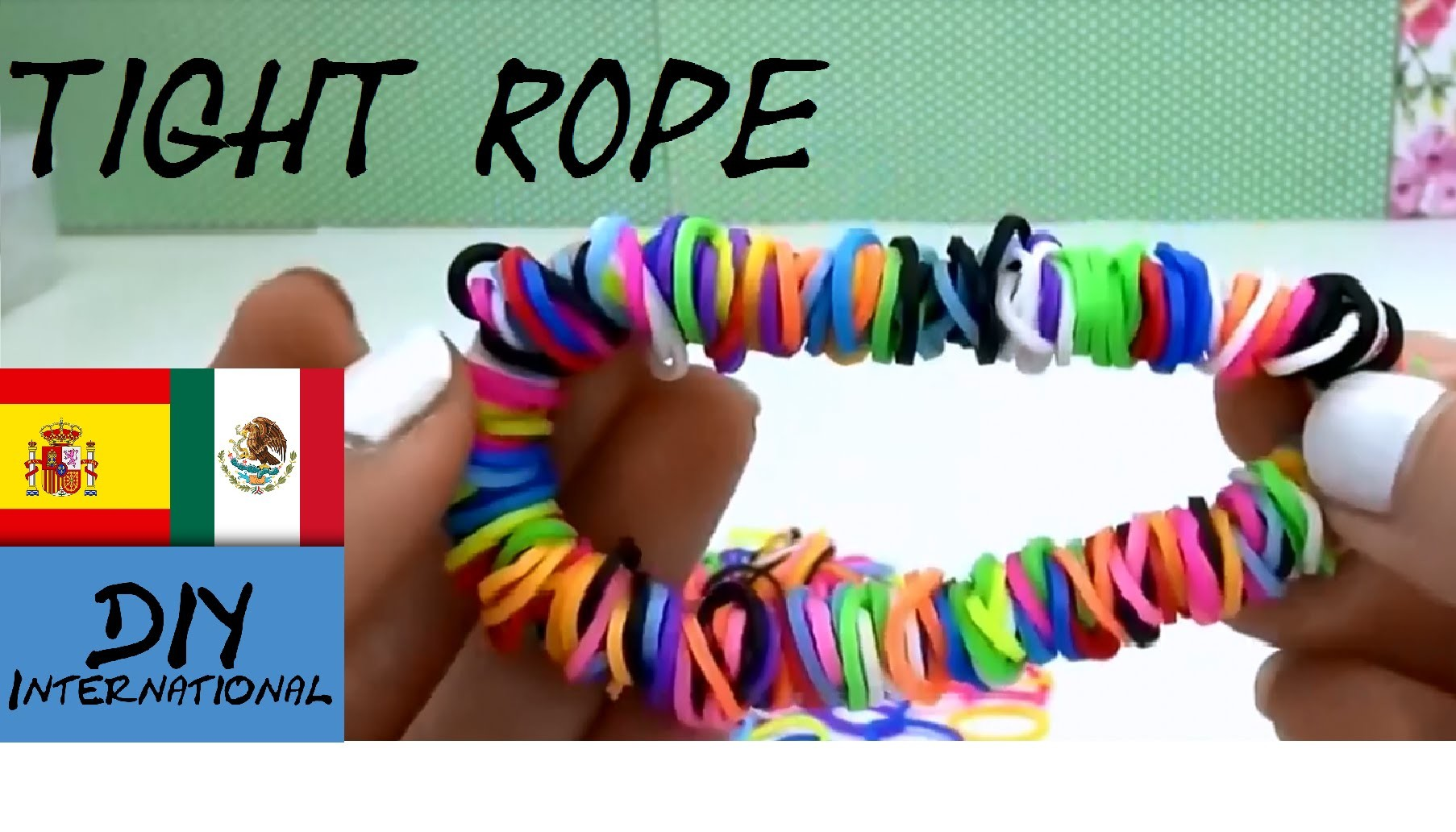 PULSERA DE GOMITAS TIGHT ROPE - RAINBOW LOOM TIGHTROPE - TUTORIAL EN ESPAÑOL - DIY