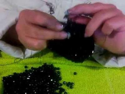 Puntada para monedero tejido con cuentas parte 5