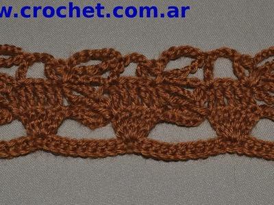 Puntilla N° 57 en tejido crochet tutorial paso a paso.